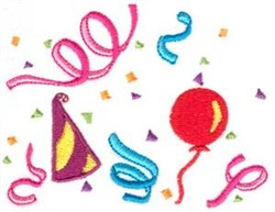 Party Confetti embroidery design