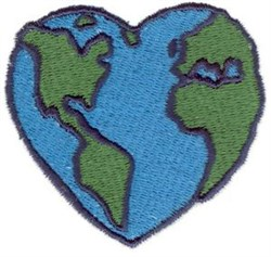 Stitchitize embroidery design globe heart 2 44 inches h x 2 60 inches