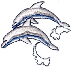 Dolphins Jumping embroidery design