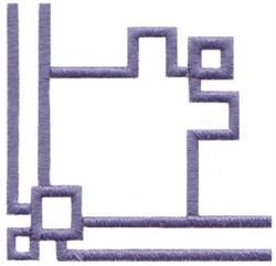 Geometric Corner embroidery design