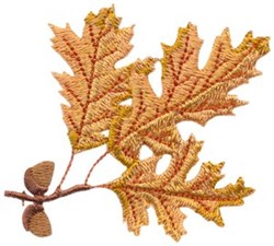 Acorns and Oak Leaves embroidery design