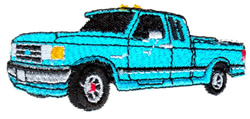 Double Cab Truck embroidery design