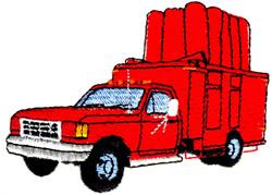 Propane Truck embroidery design