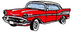 Fifties Car embroidery design