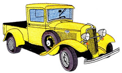 Old Pickup embroidery design