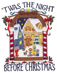 Night Before Christmas embroidery design