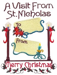 A Vist From Santa embroidery design