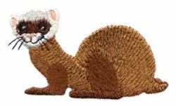 Ferret embroidery design