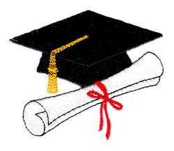 Graduation embroidery design