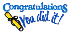 You Did it! embroidery design