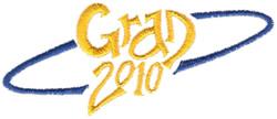 Grad 2010 embroidery design