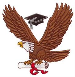 Diploma Eagle embroidery design