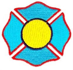 Filled Maltese Cross embroidery design