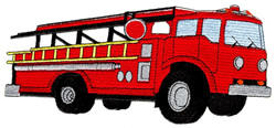 Large Fire Truck embroidery design