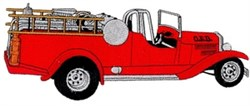 Old Fire Truck embroidery design