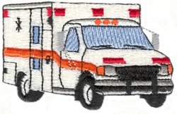 Ambulance embroidery design