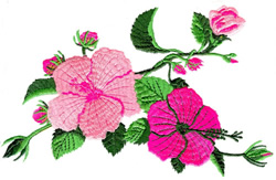 Hibiscus Flowers embroidery design