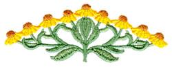Coneflower embroidery design
