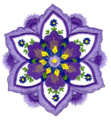 Country Craft Flower embroidery design