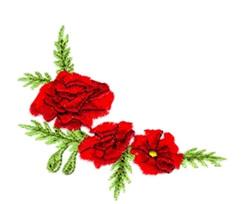 Poppy Corner embroidery design