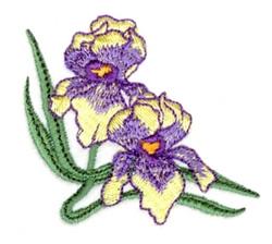 Large Iris Corner embroidery design
