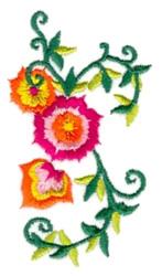 Lotus Vines embroidery design