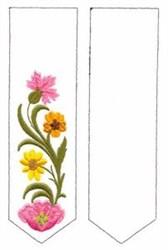 Flower Bookmark embroidery design