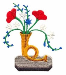 Trumpet Vase embroidery design