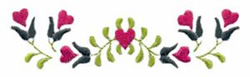 Hearts and Vines embroidery design
