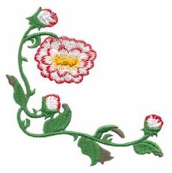 Dahlia Corner embroidery design