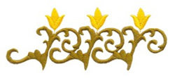 Rosemaling Border embroidery design