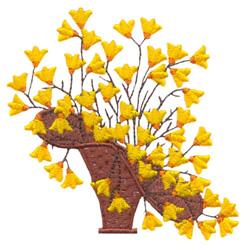 Floral Basket #6 embroidery design