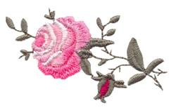 Single Climbing Rose embroidery design