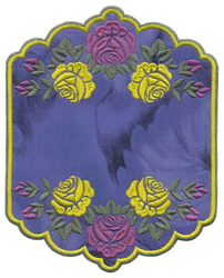 Rose Border Applique embroidery design