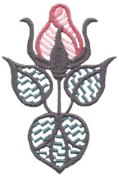 Heritage Rose embroidery design