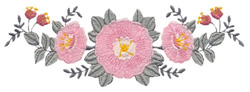 Floral Spray Arch embroidery design