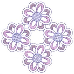 Four Flowers embroidery design