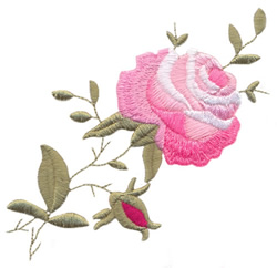 Large Climbing Rose embroidery design