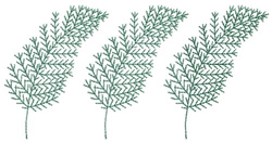 Air Fern Fronds Trio embroidery design