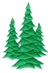 Three Trees embroidery design