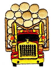 Logging Truck embroidery design
