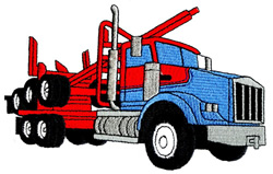 Log Hauling Truck embroidery design