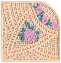 Scotch Rose Lace Doily embroidery design