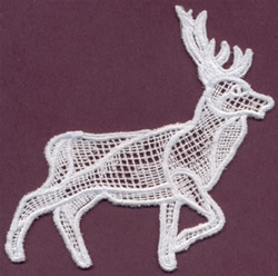 Deer - Italian Lace embroidery design