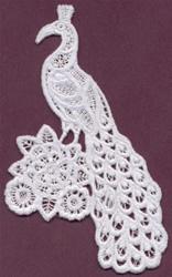 Peacock - Italian Lace embroidery design