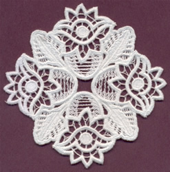 Floral Italian Lace embroidery design