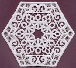 Lace Medallion embroidery design