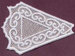 Lace Triangle embroidery design