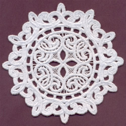 Lace Circle embroidery design