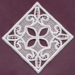 Lace Diamond embroidery design